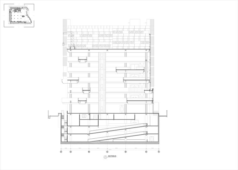 九转回环、流畅现代的车展大厅及办公楼设计_23