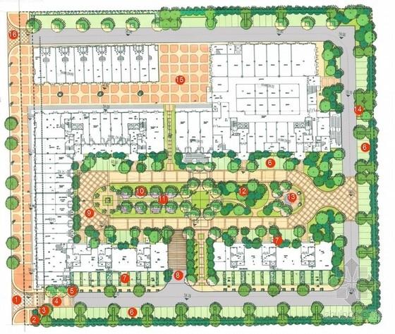 [杭州]现代风格居住区景观规划设计方案