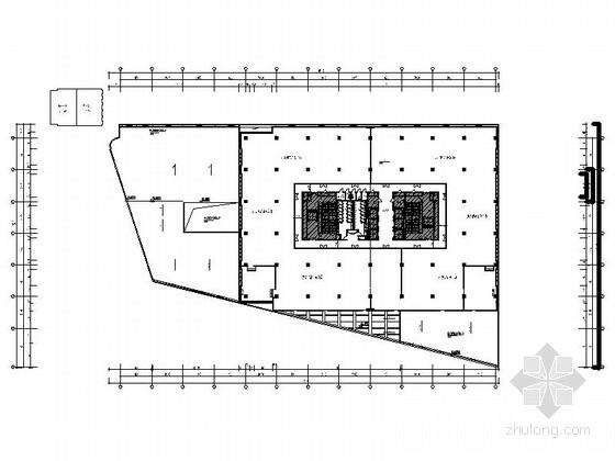 [上海]大型IT企业现代办公楼室内装修施工图(含效果)