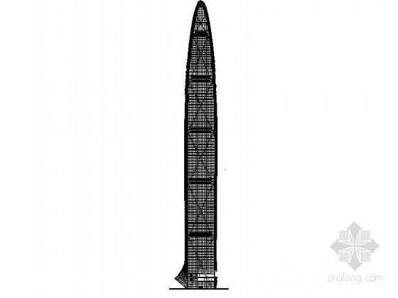 [深圳]超高层玻璃幕墙金融大厦建筑施工图(知名设计事务所)