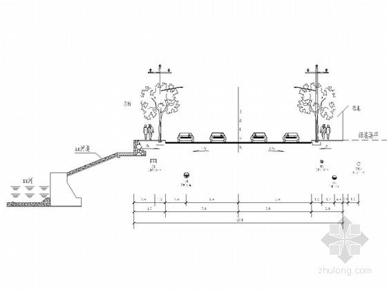 [重庆]工业园道路工程施工图设计61张(含管网)
