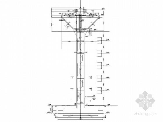 [500立方米]钢筋混凝土支筒式倒锥型水塔结构施工图