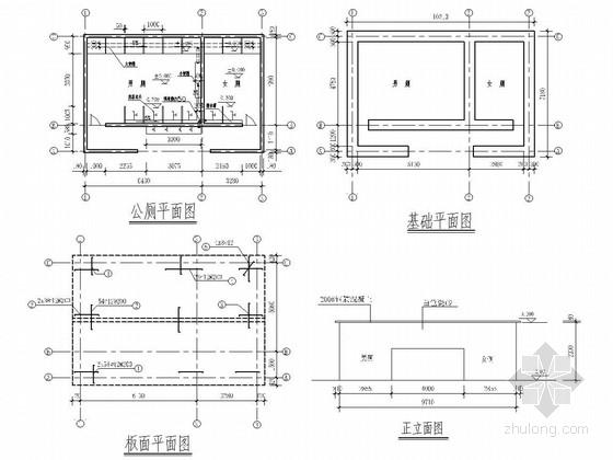 公共厕所结构施工图