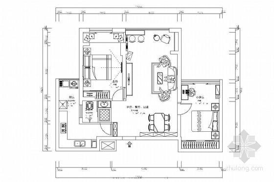 成熟配套小区高层板楼现代风格两居室装修图(含效果图)