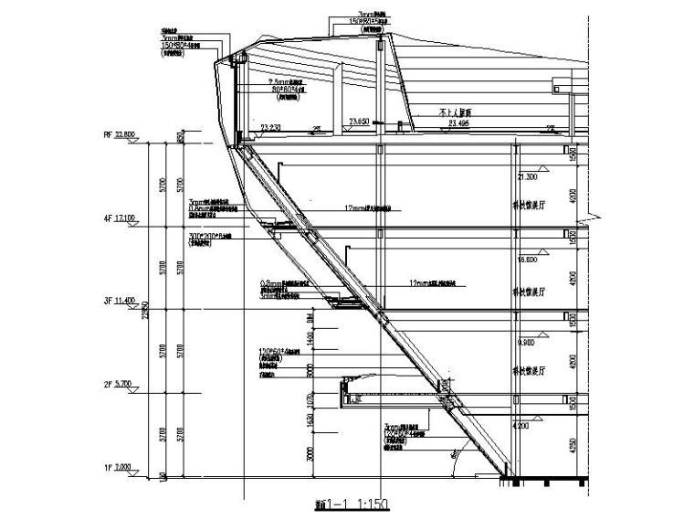 [安徽]四层弧线型文化中心钢结构玻璃幕墙施工图(16年最新)_2