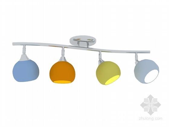 餐厅组合灯3D模型下载