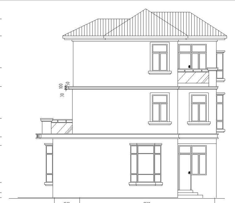 三层复式框架结构户型为三层复式别墅施工图设计