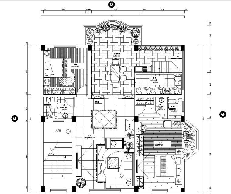 复式楼完整室内施工图设计文本