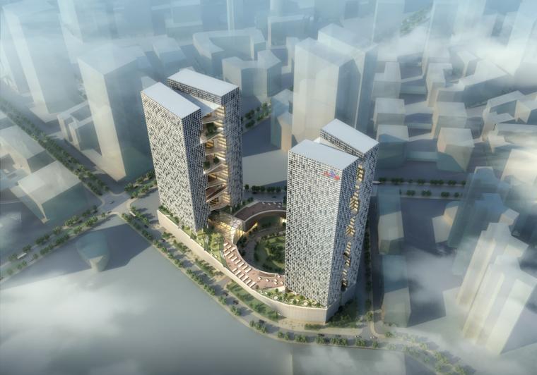 [北京]现代风格知名企业办公大楼建筑发囊文本(含多媒体及模型)