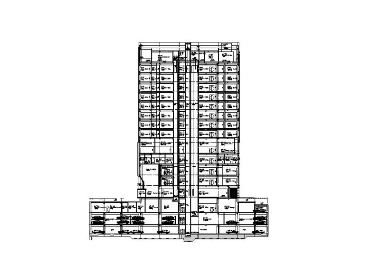 [海南]地下三层医疗中心项目地下室及人防功能建筑全专业图纸
