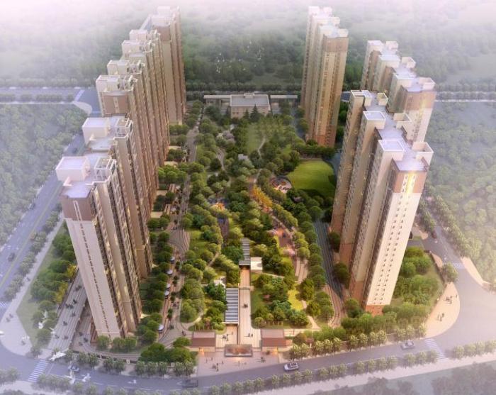 [北京]简约风格东方传统居住示范区和大区景观方案设计文本
