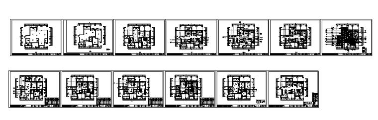 【四川】3套现代混合风格样板间设计案例_4