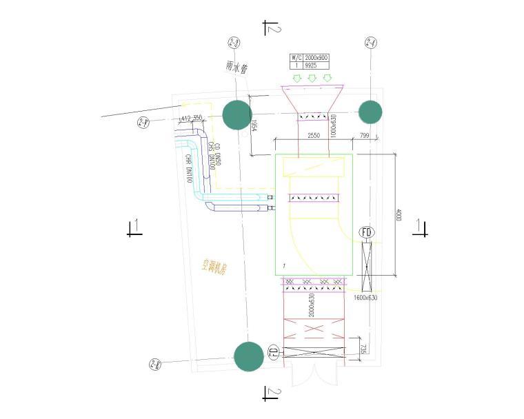 启东市党员干部学习教育中心暖通设计最新图纸