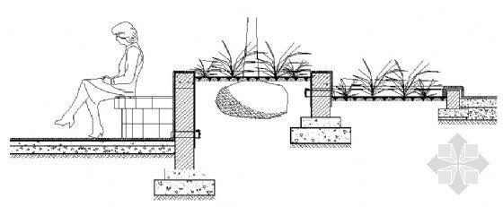 树池坐凳剖面图