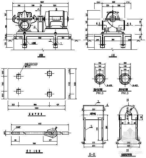 水泵安装标准大样图