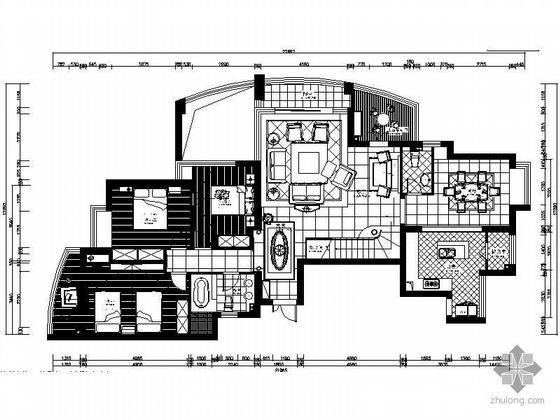 [宁波]360平美式风格空中别墅装修图