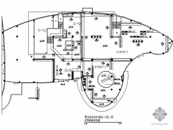 沙发商场二区一层造型隔断设计图