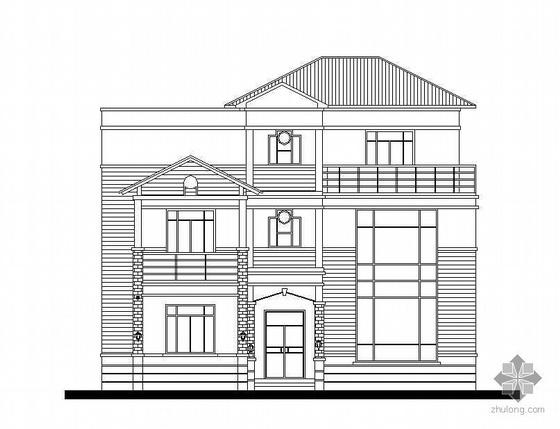 某三层带屋顶花园别墅建筑施工图(含效果图)