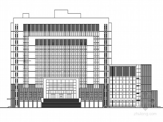 某十二层法院办公楼建筑施工图(原创)