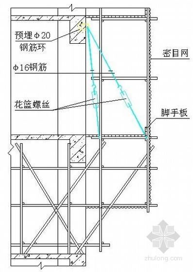 悬挑式脚手架示意图