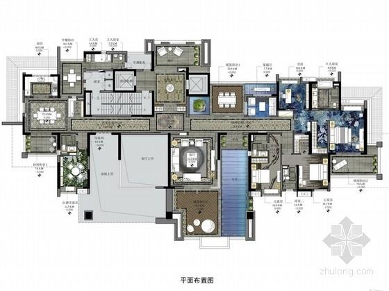 [鹤山]国家级自然风景区奢华典雅四居室设计方案