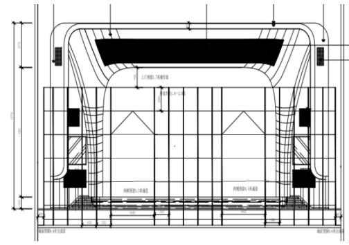 甘肃文化艺术中心场馆观众厅GRG氟碳喷涂满堂架搭设方案(四层钢框架支撑+钢砼框剪结构)_2