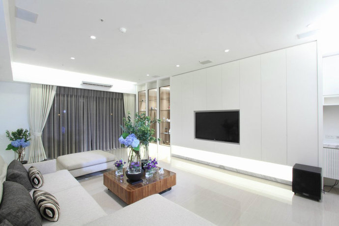 270平现代简约客厅装修效果图