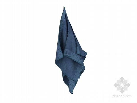 深蓝色毛巾3D模型下载