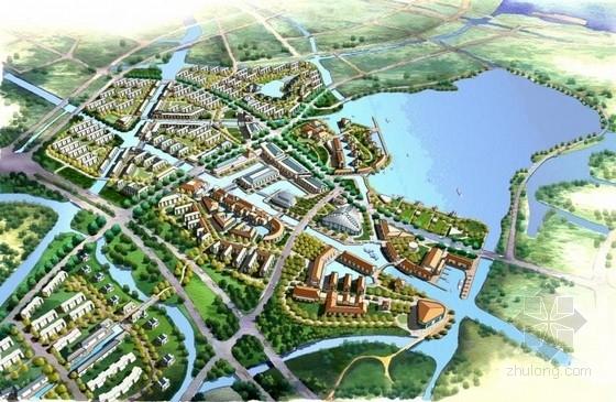 [上海]滨水新镇概念性总体景观规划方案文本