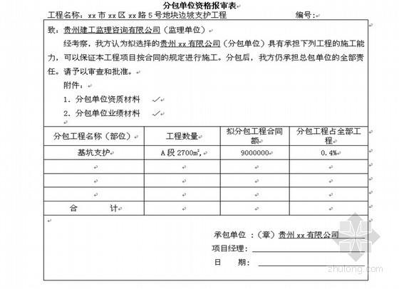 基坑支护边坡工程监理旁站用表(22张)