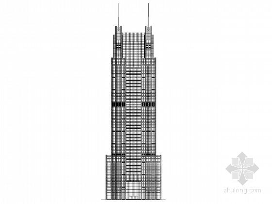 [上海]46层超高层玻璃幕墙办公楼建筑施工图(知名建筑设计研究有限公司)