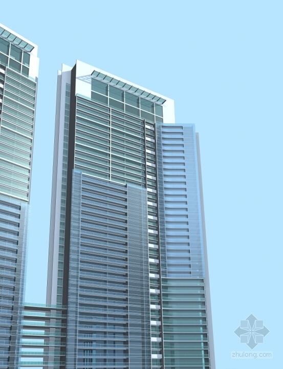 超高层现代风格住宅区效果图