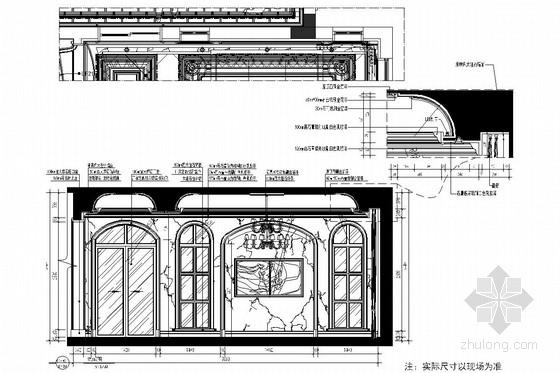 [上海]交通便利高档森林住宅区欧式风格两层别墅装修图 立面图