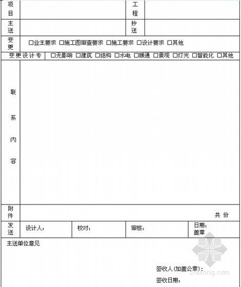 [江苏]房地产集团企业管理制度汇编(402页编制详细)-设计变更联系单