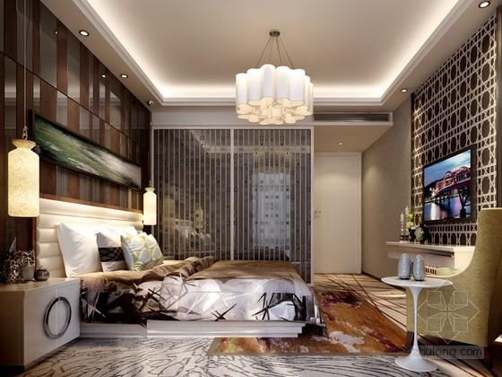 时尚精致卧室3D模型下载