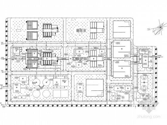 [湖南]5万吨净水厂给排水工艺全套图纸(附170页计算说明)