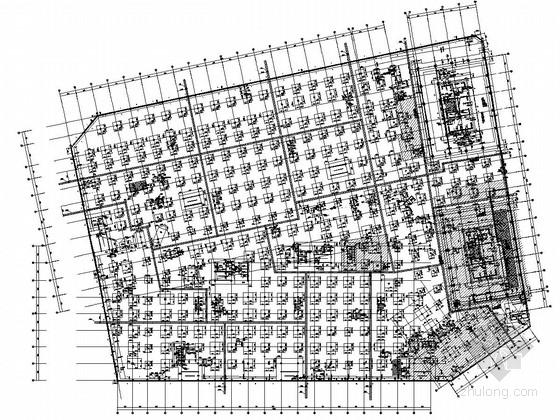 [写字楼]知名广场25层框筒结构施工图(2栋购物中心)