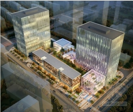 [13万平]企业总部办公楼群建筑及结构图(350张图)