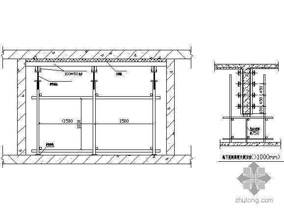 天津某高层模板搭设施工方案(多层板、满堂脚手架)