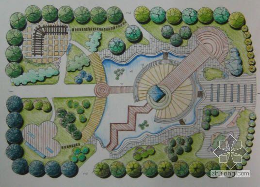 [学生作品]居住区中心组团绿地景观设计方案
