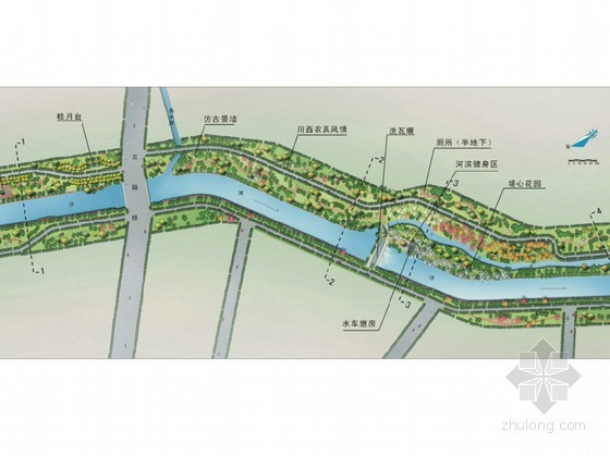 [成都]某滨河沿岸景观概念设计方案