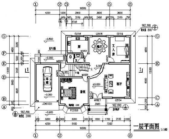 某3层别墅建筑图-3