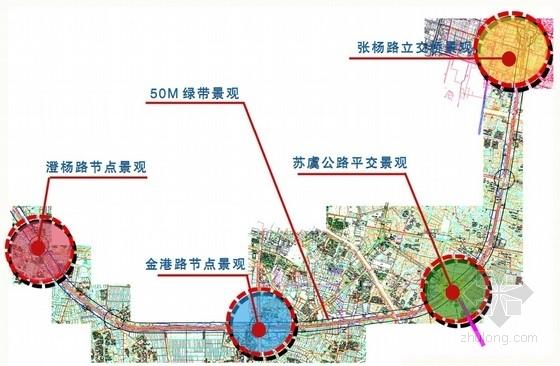[张家港]公共交通枢纽周边道路环境景观设计方案