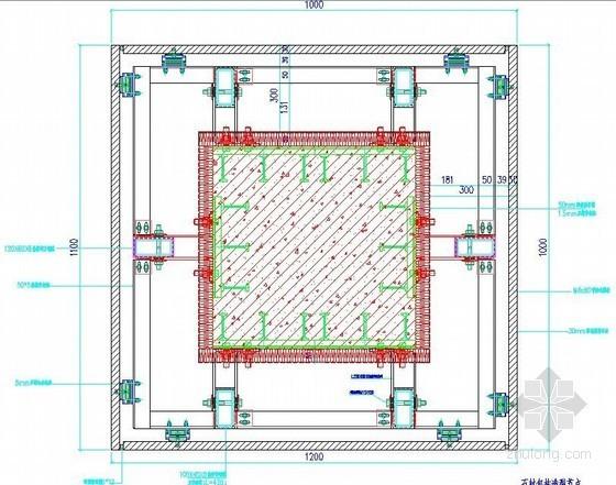 石材包柱造型节点详图