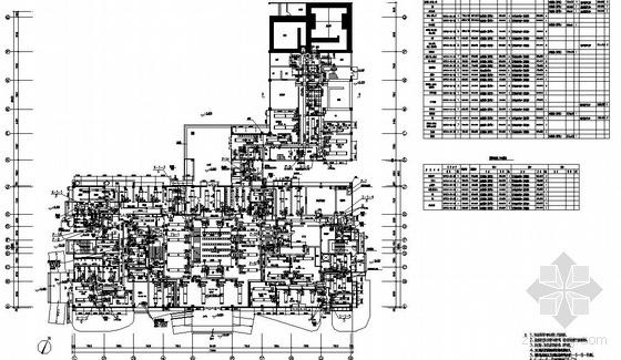 阆中市某医院门诊综合楼空调通风图