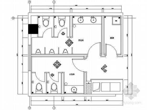 [分享]酒店卫生间施工图设计说明资料下载图片