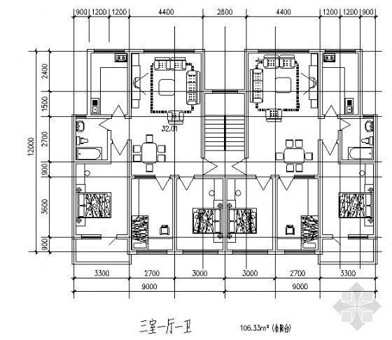三室一厅一卫2(106平方米)