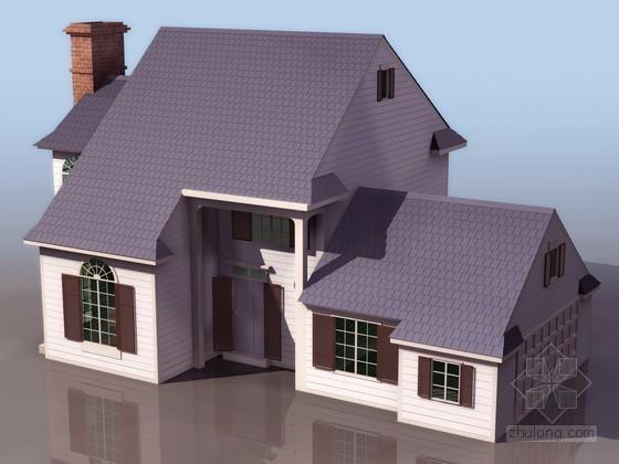 坡顶洋房别墅3DMAX模型