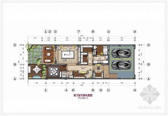 [浙江]豪华欧式田园风格两层别墅装修室内设计方案