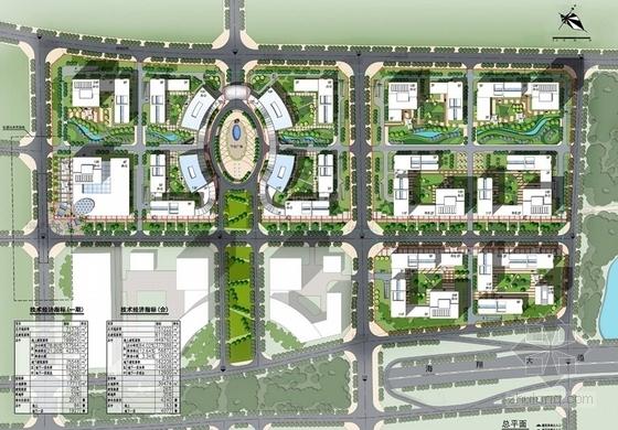 [福建]城市核心区软件园地块规划设计方案文本-城市核心区软件园地块规划总平面图